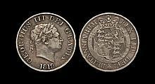 English Milled Coins - George III - 1819 - Halfcrown