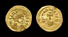 Ancient Byzantine Coins - Heraclius - Cross on Globe Gold Semissis