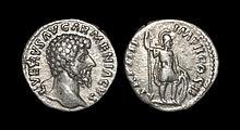 Ancient Roman Imperial Coins - Lucius Verus - Mars Denarius