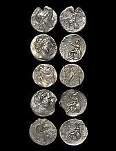 Ancient Greek Coins - Greek Kingdoms - Antiochus III and VII, Lysimachos, Philetairos - Apollo, Athena and Zeus Tetradrachm Group [5]