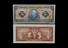 World Banknotes - Brazil - 5 Mil Reis