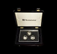 English Milled Coins - Elizabeth II - Guernsey 2010 - Westminster Mint Proof Silver 'National Service' £5 Set [6]