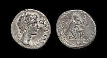 Ancient Roman Imperial Coins - Augustus - L Caninius Gallus - Kneeling Barbarian Denarius