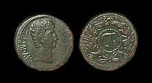Ancient Roman Imperial Coins - Augustus - Rostral Wreath Dupondius