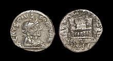 Ancient Roman Imperial Coins - Augustus - Q. Rustius - Jugate Busts Denarius