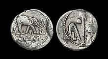 Ancient Roman Imperial Coins - Julius Caesar - Elephant Denarius