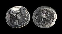 Ancient Roman Imperial Coins - Mauretania - Juba II - Portrait Denarius