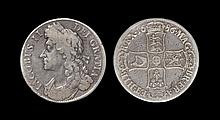 English Milled Coins - James II - 1686 - 'No Obverse Stops' Crown