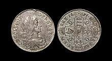 English Milled Coins - Charles II - 1671 - Halfcrown