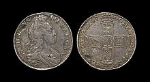English Milled Coins - William III - 1700 DVODECIMO - Crown