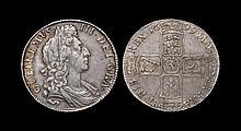 English Milled Coins - William III - 1699 - Halfcrown
