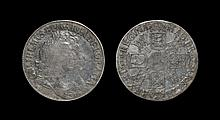 English Milled Coins - William & Mary - 1691 'I over E' - Crown