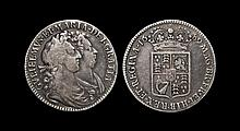 English Milled Coins - William & Mary - 1689 - Halfcrown