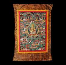 Tibetan Thanka with Tsongkhapa