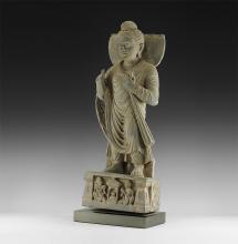 Gandharan Standing Buddha Statue