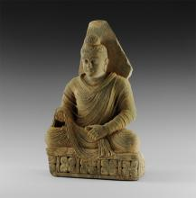 Gandharan Seated Buddha Statue