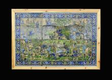 Islamic Ottoman-Safavid Battle of Chaldiran Tile Panel