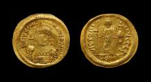 Ancient Byzantine Coins - Justinian I - Victory Gold Solidus