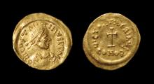 Byzantine Coins - Tiberius II Constantine - Gold Cross Potent Tremissis