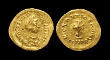 Ancient Byzantine Coins - Tiberius II Constantine - Gold Cross Potent Tremissis