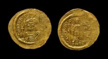 Ancient Byzantine Coins - Maurice Tiberius - Victory Gold Solidus