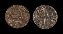 Anglo-Saxon Coins - Aethelred II - London / Toca - Long Cross Penny