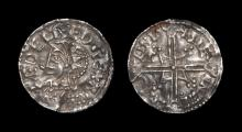Anglo-Saxon Coins - Aethelred II - Lincoln / Stegncil - Subsidiary Variant Helmet Penny
