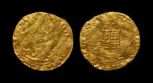 English Tudor Coins - Philip and Mary - Gold Angel
