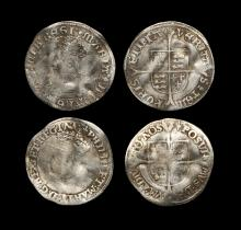 English Tudor Coins - Mary and Philip and Mary - Groat Group [2]