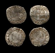 English Tudor Coins - Elizabeth I - Three Halfpence and Penny Group [2]