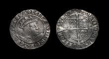 English Tudor Coins - Henry VIII - Groat