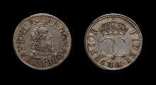 English Stuart Coins - Charles I - Pattern Briot Halfgroat
