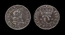 English Stuart Coins - Charles I - Pattern Briot Mule Halfgroat