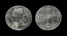 English Milled Coins - Charles II - 1677 - Halfcrown