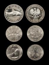 World Coins - Poland - 1971/1977 - Pattern Cupro-Nickel 10 and Silver 100 Zloty Group [3]