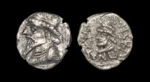 World Coins - Kingdom of Elymais - Kamnaskires III - Double Portrait Drachm