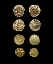 World Coins - India - Gold Fanam Group [4]