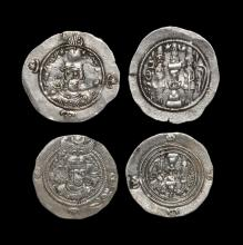 World Coins - Sassanian - Hormazd IV and Khusru II - Dirham Group [2]