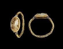 Roman Gold Bracelet with Bacchant Cameo