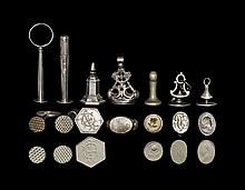 Post Medieval Device, Monogram and Wafer Fob Seal Matrix Group
