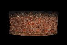 Indian Black Hand Woven Paisley Shawl