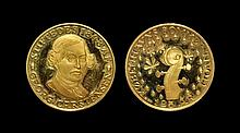 World Commemorative Medals - Denmark - 125th Anniversary of Tivoli Gardens - Gold Medal