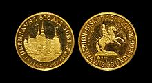 World Commemorative Medals - Denmark - 800 Years Anniversary of Copenhagen - Gold Medal
