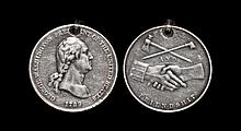 Civilian Award Medals - USA - George Washington '1789' - Cast Silver Peace Medal