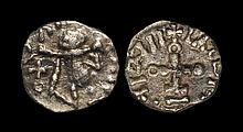 Anglo-Saxon Coins - Primary Phase - Series F, variety c, Type 24a - Cross on Steps Sceatta