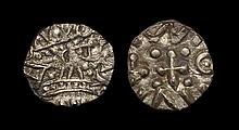 Anglo-Saxon Coins - Continental Issues - Series D, Type 2c - Portrait Sceatta