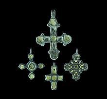 Byzantine Enamelled Cross Pendant Collection