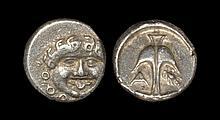 Ancient Greek Coins - Apollonia Pontika - Gorgoneion Drachm