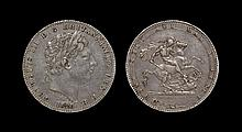 English Milled Coins - George III - 1820 LX - Crown