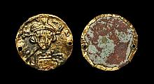 Ancient Byzantine Coins - Constantine IV - Gold Pseudo-Solidus Bracteate